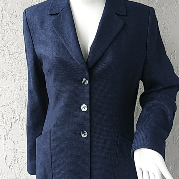 Austin Reed Jackets Coats Austin Reed Ladies Luxury Linensilk Blazer Poshmark